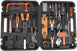 lyrlody- Maletín de herramientas para casa, 170 piezas, juego completo de herramientas de mano, martillo, pinzas de sierra, llave con funda de almacenamiento
