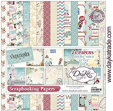 Dayka Trade Kit de Scrapbooking Vacaciones Dayka 30x30cm, Multicolor, Regular