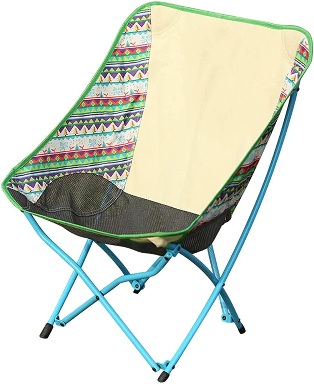 LANA Outdoor Folding Chair Fishing Chair Camping Chair Portable Lazy Back Beach Chair Moon Chair