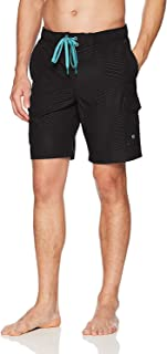 ZeroXposur Men's Axed Printed 4 Way Stretch Board Short/Swim Trunk Swimwear