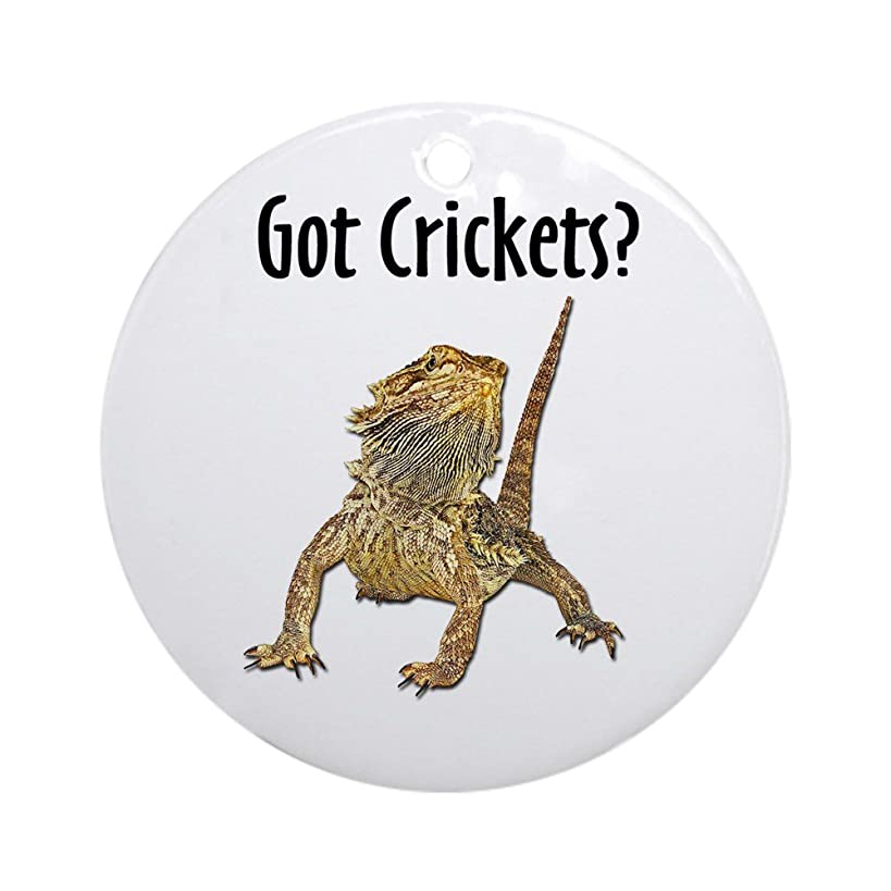 CafePress Bearded Dragon Got Crickets Ornament (Round) Round Holiday Christmas Ornament