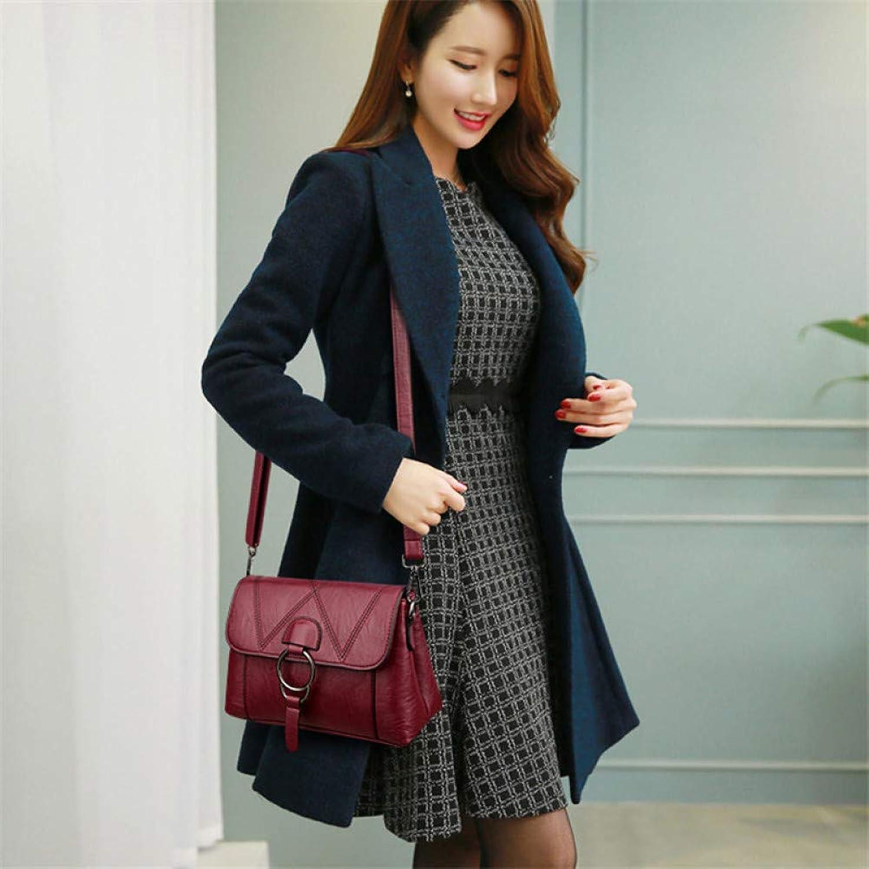 JQSM Ladies Leather Handbags Designer Bags for Women Women Messenger Shoulder Bag Top-Handle Bags Flap A Main Femme
