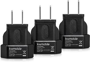 kwmobile 3X Reiseadapter für Europa-Stecker in USA-Dose - perfekt für Reisen ins Ausland - Für USA, Kanada, Mexiko