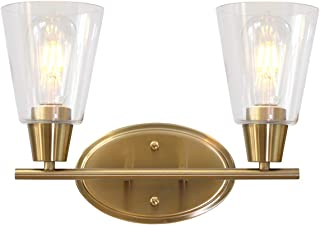brushed gold wall lights