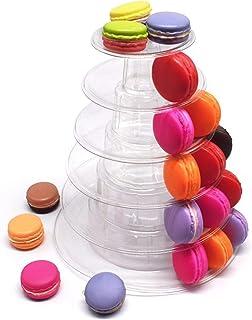 Scelet Support de Cupcake Macaron Support de Tour /à Cupcake /à 4 Niveaux Support de Service /à Gradins Tour de Cupcake Pr/ésentoir de Mariage Clear Cupcake Dessert Stands pour d/écor de f/ête