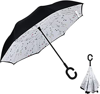 Double Layer Inverted Umbrella Anti-UV Windproof Straight Umbrella Outdoor Use