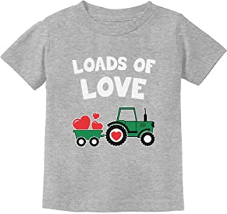 Tstars - Loads of Love Valentine's Gift Tractor Loving Toddler Kids T-Shirt