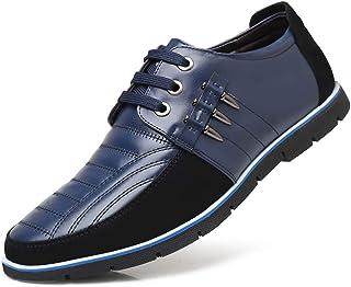LIEBE721 Zapatos Ocasionales de Negocios para Hombres Formal Salvaje Antideslizante Duradero clásico Elegante Maduro Comfa...