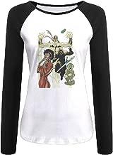 Creamfly Womens Iron Fist Misty Knight Poster Long Sleeve Raglan Baseball Tshirt