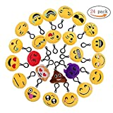 QH-Shop Emoji Llavero,Emoción Llavero 6cm Mini Regalo de Relleno de Juguete para Coche Mochila Fiesta Favores Decoración Niños Juguete 24 packs