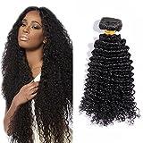 45cm 10A Extensiones de Cortina Brazilian Human Hair Bundles Kinky Curly (1...