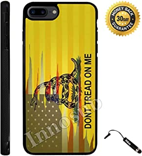 Custom iPhone 7 PLUS Case (Dont Tread On Me Best Flag) Edge-to-Edge Rubber Black Cover with Shock and Scratch Protection | Lightweight, Ultra-Slim | Includes Stylus Pen by Innosub