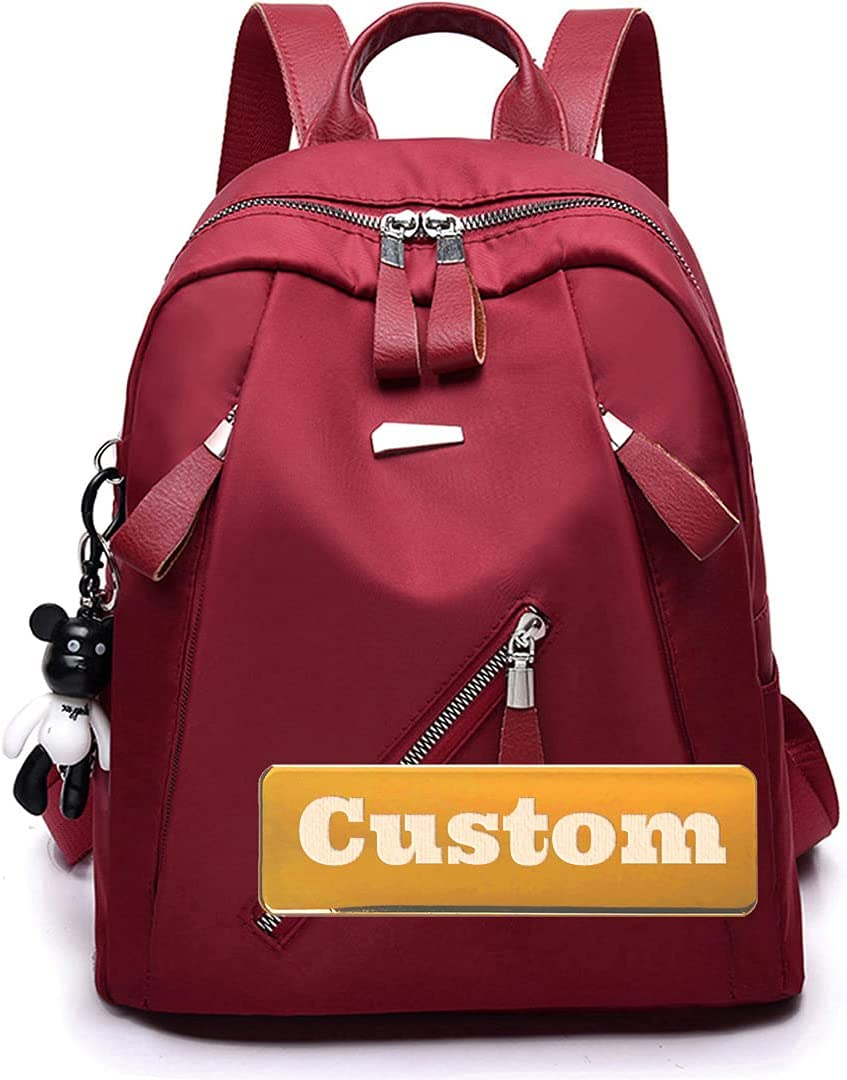 Personalized Custom Name Max 47% OFF Professional Backpack Women overseas Purse Work