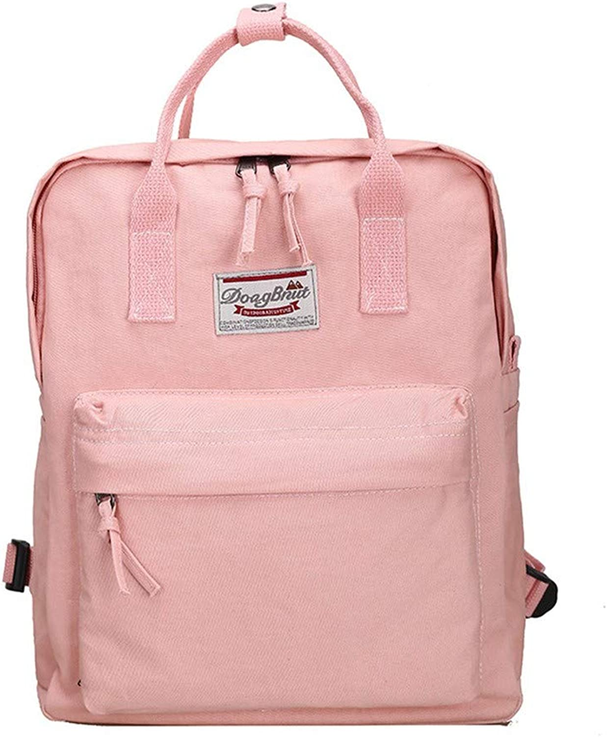 AUULANG Backpack Backpack Men and Women Casual Backpack Outdoor Travel Bag, Pink