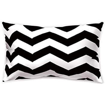 Black and White Rectangle Pillow Case