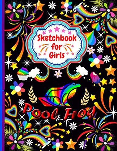 Pool Frog Sketchbook For Girls: Cute Pool Frog Sketchbook for drawing, Blank Paper for Drawing, Doodling or Sketching Sketchbooks For Kids Girls, Students ...Sketchbook For Girls Who Loves Pool Frog