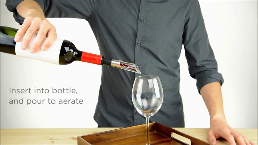 Rabbit Wine Aerator and Pourer, 1.1 x 1.1 x 5.2 inches, Clear/Stainless Steel