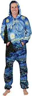 Men Romper Jumpsuit One Piece 3D Print Casual Zipper Hooded Hoodie Pants Overalls