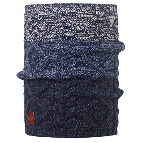Buff Knitted Chauffe-Cou Comfort noubas Tuyau Rigide Taille Unique Medieval Blue