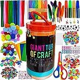 MOISO Kit Manualidades niños, Pipe Cleaners Crafts Set, Juego de Manualidades, Limpiadores de Pipa Pompoms con Wiggle Eyes y Craft Sticks, Juego Creativo Regalo para Craft DIY Art Supplies 560+ Pcs