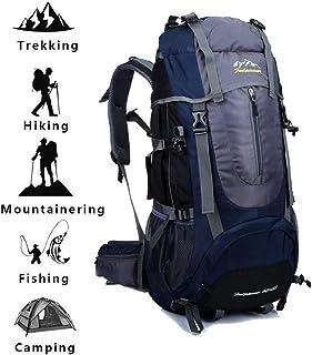WUZHENG Mochila De Senderismo Mochila De Viaje De 65L Mochila Grande Bolsa De Equipaje para Trekking Picnic Camping Mochilero Vacaciones