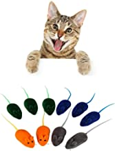 PanDaDa Squeaky Mice Cat Toys, Pet Cat Soft Rubber Mouse Toy Interactive Squeaky Toy Kitten Fun Toy Squeak Noise Lovely Rat Mice False Mouse Bauble Playing Toys