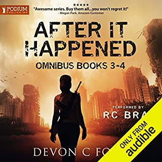 After It Happened     Publisher's Pack 2              Written by:                                                                                                                                 Devon C. Ford                               Narrated by:                                                                                                                                 R.C. Bray                      Length: 12 hrs and 11 mins     25 ratings     Overall 4.8