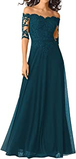 half sleeve mother of the bride dresses long
