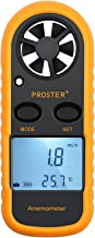 Proster Anemometers Handheld Wind Speed Meter Portable Wind Gauges Air Flow Thermometer with LCD Backlight for Windsurfing Kiteflying Sailing Surfing Fishing