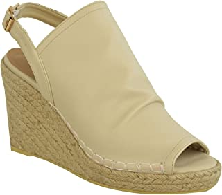 Fashion Thirsty Womens Espadrille Wedge Sandals Platforms Low Heels Summer Shoes