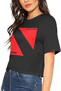 Lumbar Tee Womens Navel Tshirts Bare Midriff T-Shirt Cool Woman Midriff-Baring T Shirts