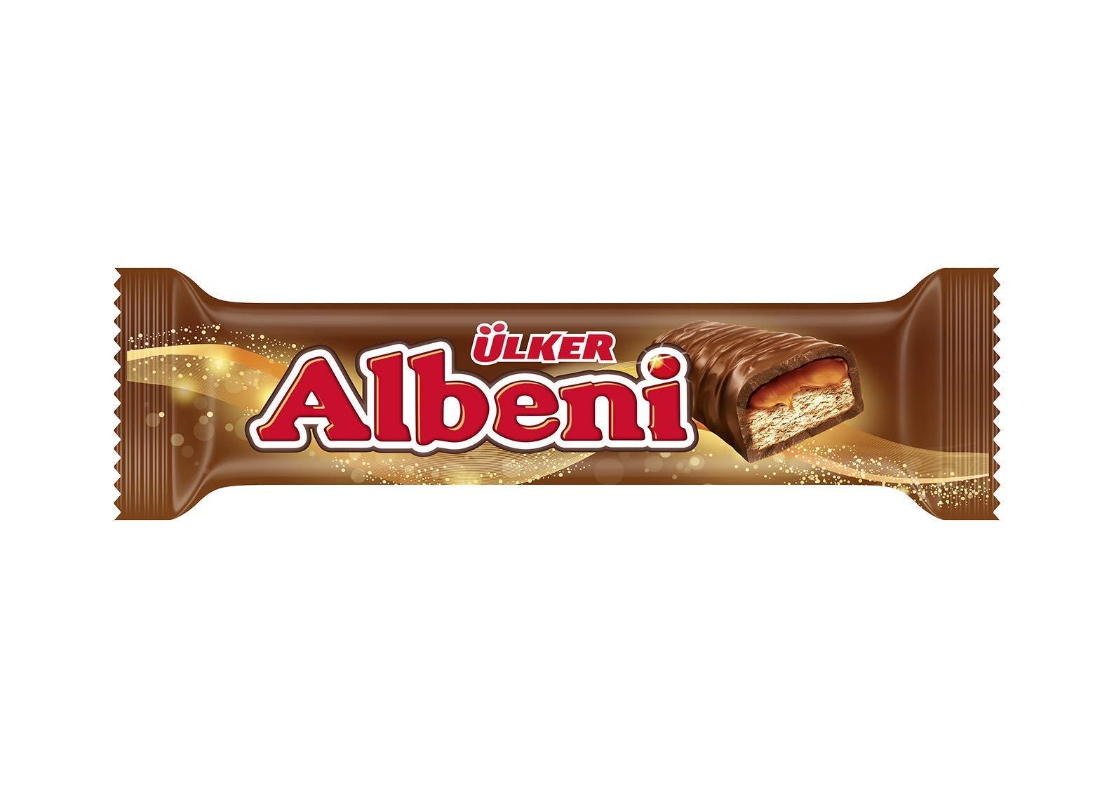 Ülker Albeni Milk Chocolate Coated Bar w/ Caramel & Biscuit 40g