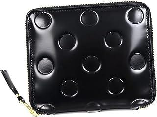 (コムデギャルソン) COMME des GARCONS ラウンドファスナー財布 二つ折り財布 ドットエンボスブラック SA2100NE[並行輸入品]