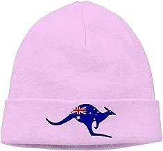 Kangaroo Australia Flag Printed Plain Skullies Beanie toboggan Hat Cap Unisex Vintage Hats