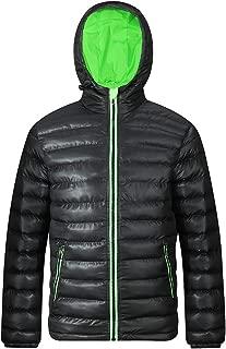 FAFNIR Womens Hooded Down Jacket Puffer Coats Winter Stand Collar Outwear Cotton Warm Parka