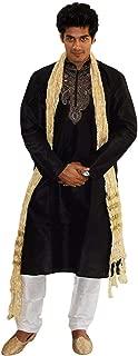Men Dupatta Shawl Kurta Sherwani Gold