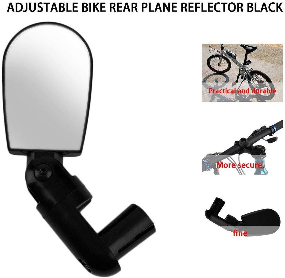 extraela 1par Espejo retrovisor para Bicicleta Manillar para Exteriores Mini Negro Flexible rotar Seguro Bicicleta de montaña Bicicleta.: Amazon.es: Deportes y aire libre