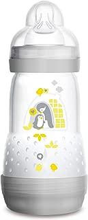 MAM Baby Bottles for Breastfed Babies, MAM Bottles Anti Colic, Gray,