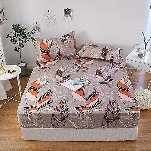 Hllhpc 1 stks 100% polyester print bed set met vier hoeken en elastische band vellen