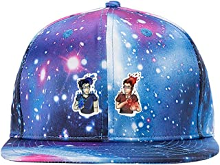 ETJIJCKDI Mark Vs Mark Purple Galaxy Snapback Hat Unisex Trucker Hat Hip Hop Plaid Flat Adjustable Baseball Hat