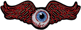 Flying Eyeball Embroidered 10.0 X 3.5 inch Iron on Patch by Miltacusa