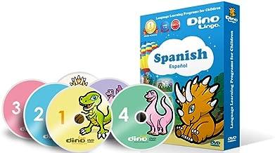 Dino Lingo Spanish DVDs for Children - Learn Spanish for Kids DVD Set (6 DVDs)