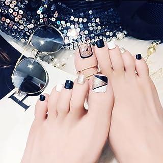 24 uñas postizas de pie falsas para uñas, herramientas de arte de uñas, estilo novedoso, regalo de día festivo J60
