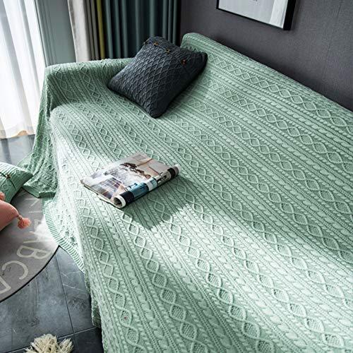 Zxb-shop Suave Cubierta del Sofá Lanzar Manta,Cubiertas De Couch para Cushion Couch,Moderno Decorativo Tirar Manta para El Saco Sofá Cama Viaje-Olas Turquesa 170 * 300CM