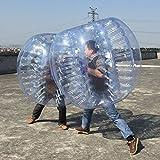 Foshan Mingze Bubble calcio gonfiabile tuta Zorb Ball 0.8mm in PVC, diametro 1,2m (1.2m) costruzione del corpo umano termosaldate bumper Bubble costume per bambini e adulti (confezione da 2), blue