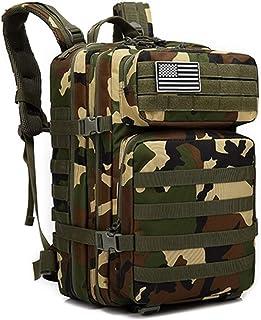Ssszx Mochila táctica militar para hombre, 45 l, mochila táctica militar, mochila de ataque molle, impermeable, para campi...