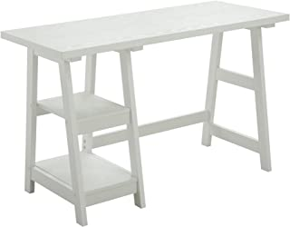 Convenience Concepts Designs2Go Trestle Desk, White
