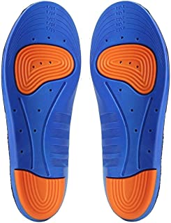 Royalkart Sports Orthotic Gel Insoles and Shoe Inserts for Women and Men Breathable Comfort Cushion With Small Holes