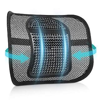 scheda renfox supporto lombare, cuscino lombare supporto schienale ergonomico cuscino per sedia ufficio auto divano sedie, riduce il dolore alla schiena e del coccige, regolabili