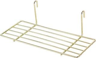 SIMMER STONE Gold Straight Shelf for Wire Wall Grid Panel, Flower Pot Display Shelf Rack, Wire Organizer Storage for Wall Decor, Size 9.8